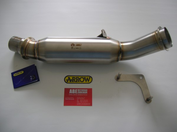 ARROW Vorschalldämpfer Ersatzrohr KTM 1290 Super Duke R Edelstahl Katalysator Rohr Bj.2014-2016 +ABE