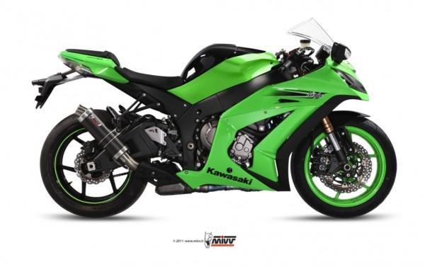 Sport Auspuff MIVV GP Carbon Kawasaki ZX-10 R Ninja Bj. 2011-2015 Typ: ZXT00J mit ABE
