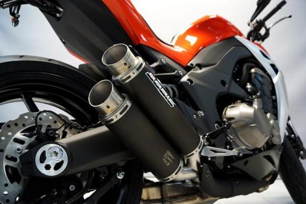 Sport Auspuff Bodis GPX2-S Edelstahl Black Kawasaki Z 1000 ZRT00F Bj. 2014-2016 +ABE