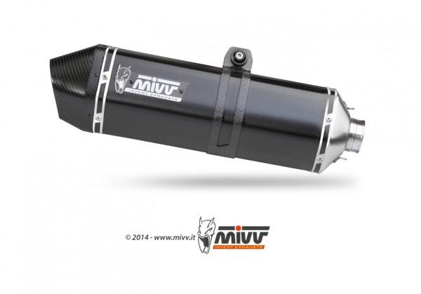 Sport Auspuff MIVV Speed Edge Steel Black Honda VFR 1200 Crosstourer Bj.2012-2018 EURO-3/EURO-4 +ABE