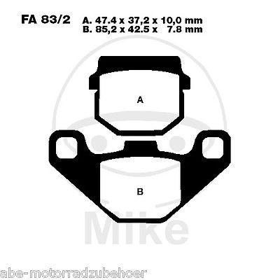 Bremsbeläge vorne Gilera Stalker 50 DT Base Bj. 04-06