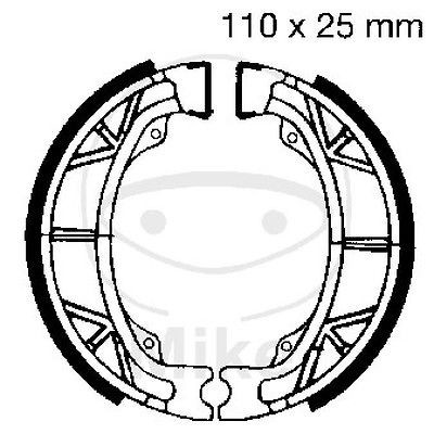 Bremsbacken hinten Honda CH 125 IT Spacy Bj. 1996-1999