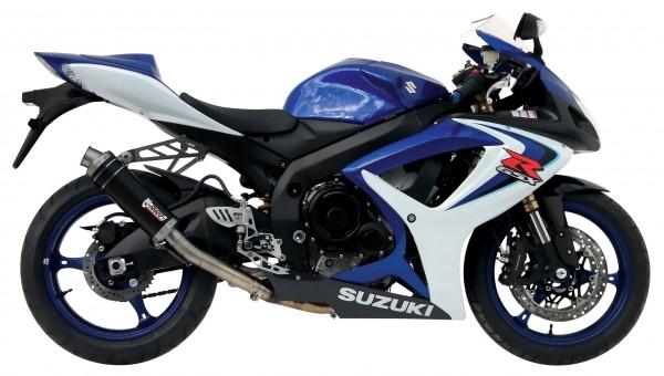 Sport Auspuff MIVV GP Carbon High-Up Suzuki GSX-R 600 / 750 Bj. 06-07 Typ CE / CF mit ABE