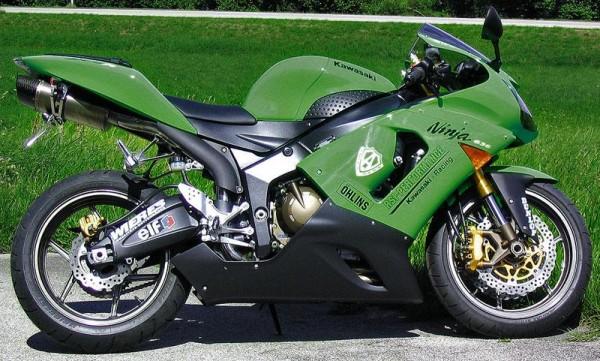 Sport Auspuff Bodis Oval Q1 Edelstahl Kawasaki ZX-6R Ninja Bj. 2005-2006 +ABE