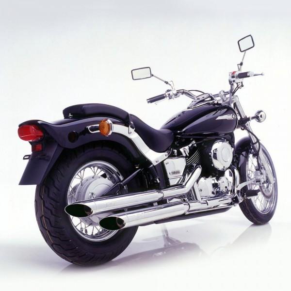 Auspuff Komplettanlage SilverTail K02 Yamaha XVS 650 Drag Star / Classic Bj. 1997-2002