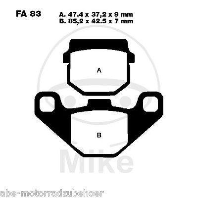 Bremsbeläge vorne Peugeot Speedfight 1 LC DD 50 97-01