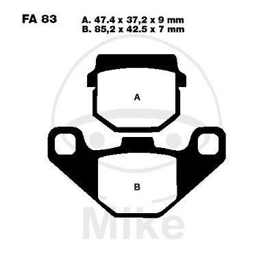 Bremsbeläge vorne Eppella ECM Fire TB 50 AC Bj. 01-03