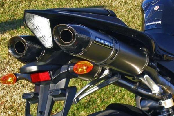 Sport Auspuff Bodis Oval Black Yamaha YZF 1000 R1 RN19 Bj. 2007-2008 +ABE