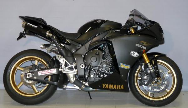 Sport Auspuff Bodis GP1 Edelstahl Black Yamaha YZF 1000 R1 RN22 Bj. 2009-2014 ABE