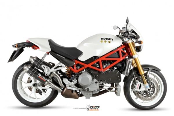 Sport Auspuff MIVV GP Carbon für Ducati Monster 1000 S4RS Bj. 2006-2008 mit ABE