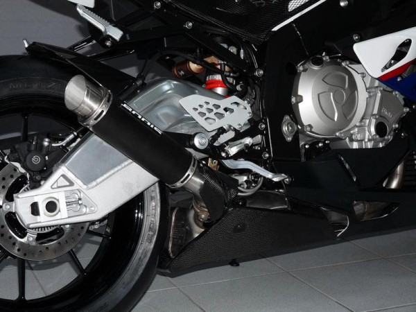 Sport Auspuff Bodis GP1-R Edelstahl Black 250mm BMW S 1000 RR Bj. 2009-2014