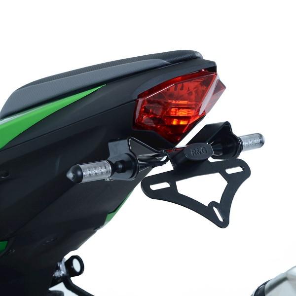 R&G Kennzeichenhalter Heckumbau Kawasaki Z 125 / Ninja 125 ab Bj. 2019 eintragungsfrei