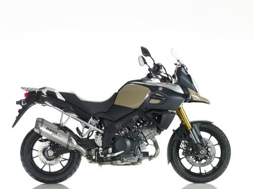 Sport Auspuff BOS Desert Fox Edelstahl matt Suzuki DL 1000 V-Strom Bj. 2013-2016 EURO-3 +ABE