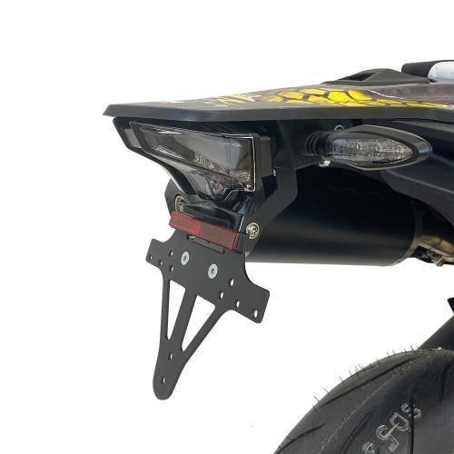 Alpha Technik Kennzeichenhalter KTM 690 SMC R Bj.2019-2021 Typ:KTM690LC4 eintragungsfrei / Heckumbau