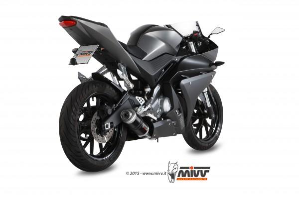 Sport Auspuff MIVV GP BLACK Komplettanlage Yamaha YZF R 125 Bj.2014-2018 RE11/RE29 EURO-3/EURO-4+ABE