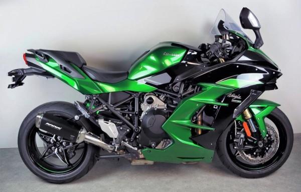 Sport Auspuff Bodis V4-M-GE Black Kawasaki Ninja H2 1000 SX Bj.2018-2019 EURO-4 +ABE