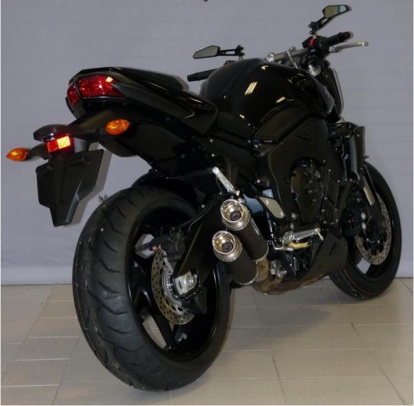 Sport Auspuff Bodis GPX2-S Black Yamaha FZ1 1000 Fazer RN16 Bj. 2006-2016 +Kat