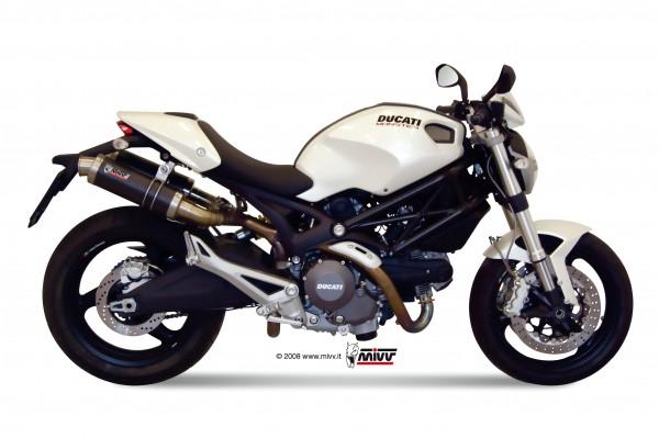 Sport Auspuff MIVV GP Carbon Ducati Monster 696 Bj. 2008-2014 mit ABE