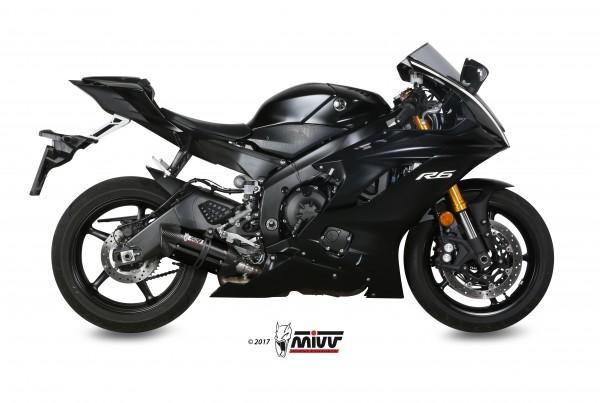 Sport Auspuff MIVV Suono Edelstahl schwarz für Yamaha YZF-R6 Bj. 2017-2019 EURO-4 +ABE