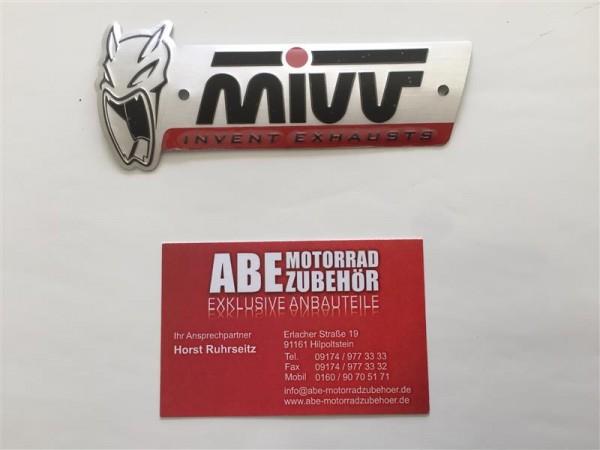 MIVV Aufkleber Label Emblem Logo new, hitzefest, Alu, Sport Auspuff Sticker groß