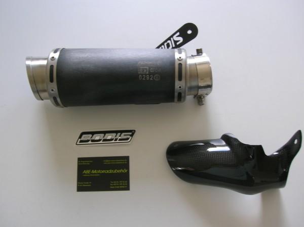 Sport Auspuff Bodis GPC-R Edelstahl Black 200mm BMW S 1000 RR Bj. 2009-2014 +ABE