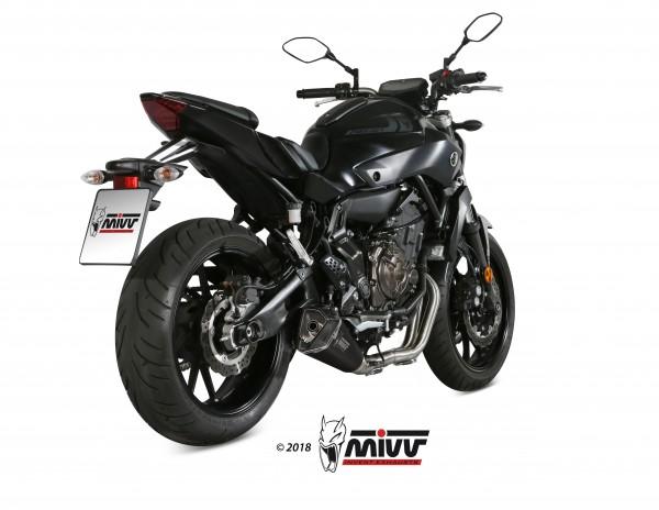 Sport Auspuff Komplettanlage MIVV Delta Race BLACK Yamaha MT-07 Bj.2014-2020 EURO-3/EURO-4 +ABE