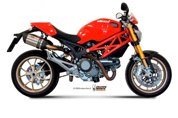 Sport Auspuff MIVV Suono Edelstahl Ducati Monster 1100 Bj. 2008-2010 mit ABE