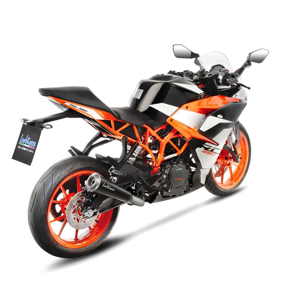 leovince sportauspuff gp one black ktm duke 125 390 bj. Black Bedroom Furniture Sets. Home Design Ideas