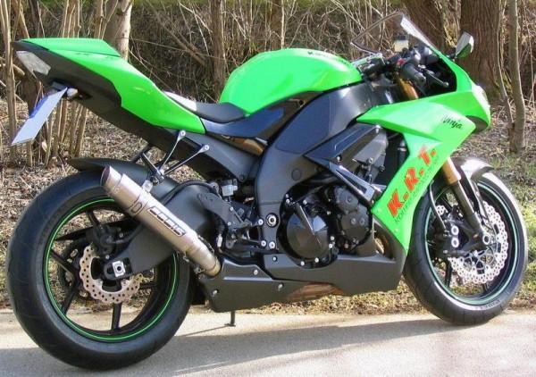 Sport Auspuff Bodis GP1 Full Titan Kawasaki ZX-10R Ninja Bj. 2008-2010 mit ABE