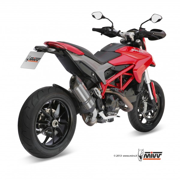 Sport Auspuff MIVV Suono Edelstahl Ducati Hypermotard 821 / Hyperstrada 821 Bj. 2013-2015 +ABE