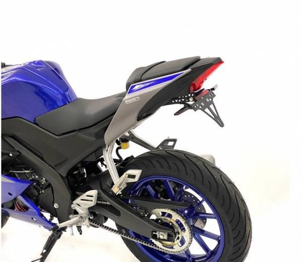 Alpha Technik Kennzeichenhalter Yamaha YZF-R 125 Bj. 2019-2021 RE39 eintragungsfrei / Heckumbau