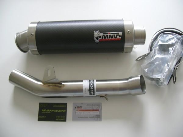 Sport Auspuff MIVV GP Carbon für Kawasaki Z 750 Bj. 2007-2014 Typ: ZR750L mit ABE