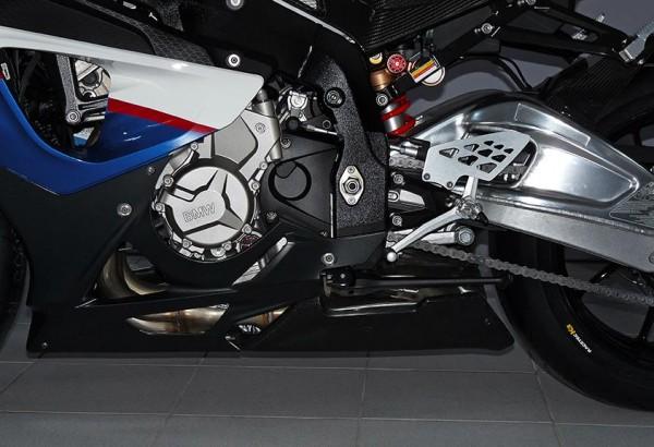 Bodis Carbon Unterteil Abdeckung f. Kat / Sammler Hitzeschild BMW S 1000 RR Bj. 2009-2014