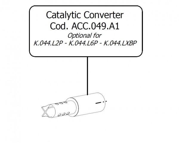 EURO-4 Nachrüst Katalysator Steck Ersatz Kat Patrone MiVV (K.044.LXBP/L2P/L6P) +ABE