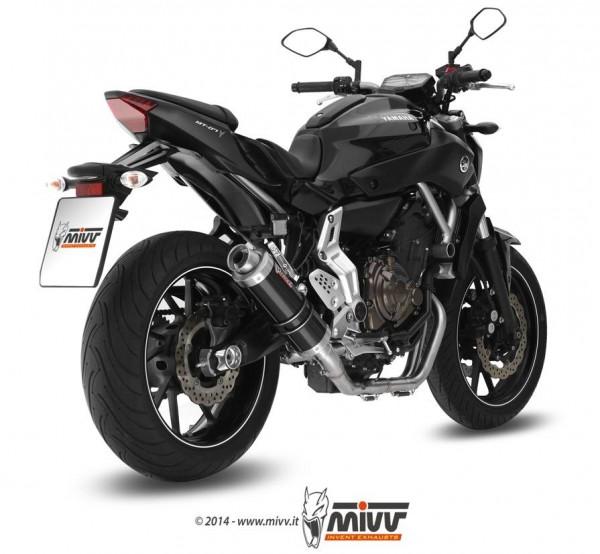 Sport Auspuff MIVV GP BLACK Komplettanlage High-Up Yamaha MT-07 Bj.2014-2020 EURO-3/EURO-4 +ABE
