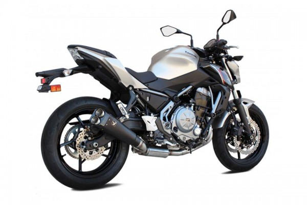Sport Auspuff Komplettanlage IXRace M9 Edelstahl black Kawasaki Z 650 / Z 650 Ninja Bj. 2017-2018 EU