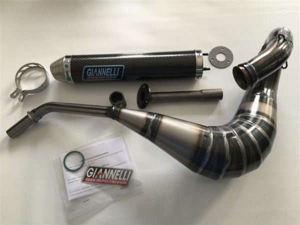 Auspuff Anlage Giannelli Carbon Husqvarna WRE 125 Enduro ab Bj. 1998 Typ: H200AA