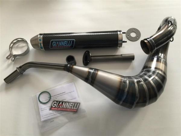 Auspuff Anlage Giannelli Carbon Husqvarna SM 125 Enduro ab Bj. 2000 Typ: H200AB +ABE