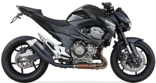 Sport Auspuff IXIL Hyperlow XL Black Edelstahl Kawasaki Z 800 E / E-Version Bj 2013-2016 +ABE