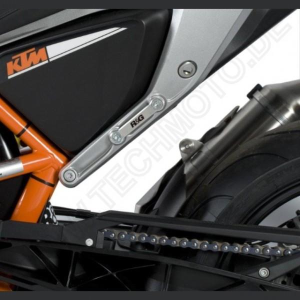 R&G Fußrasten Abdeckung hinten KTM 690 Duke / R Bj. 2012-2019 Sozius Rastenabdeckung