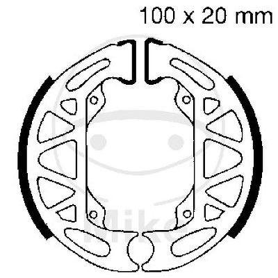 Bremsbacken hinten Piaggio Vespa ZIP 25 1994-1996 SSL1T