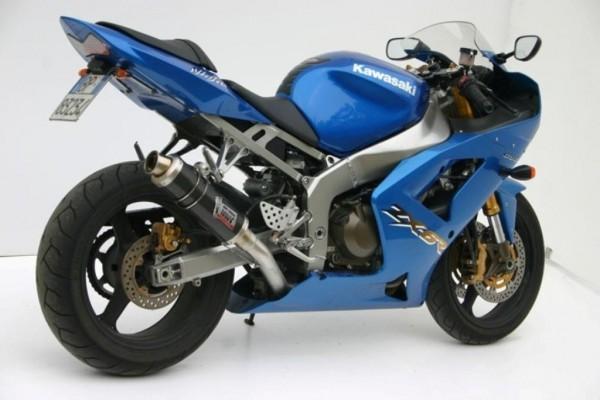 Sport Auspuff MIVV GP Carbon für Kawasaki ZX-6 RR Ninja / ZX-6 R 636 Ninja Bj. 2003-2004 mit ABE