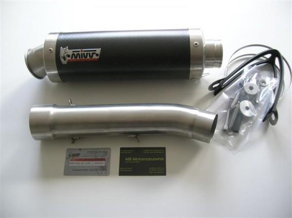 Sport Auspuff MIVV GP Carbon Aprilia Tuono Fighter 1000 Bj. 2002-2005 Typ: ME / RP mit ABE